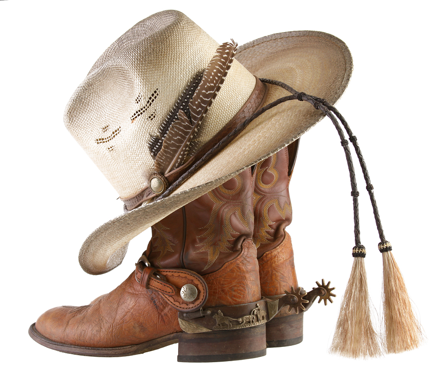 Cowboy-Boots-And-Hat